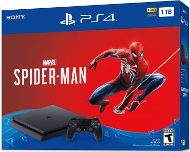 PS4 Slim 1TB Console with Spiderman