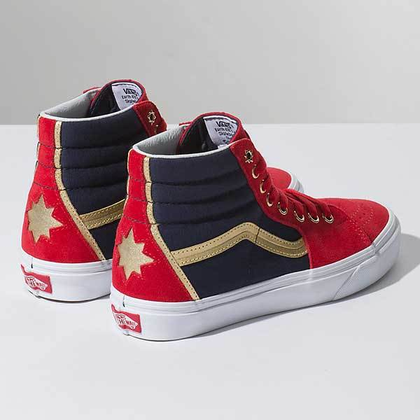 Discount Vans x Marvel Red Skate Shoes For Women On Sale
